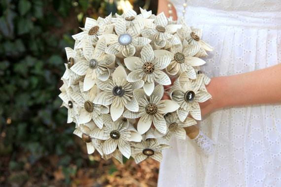 bouquet de mariage en papier bouquet par theflowergirlatlanta. Black Bedroom Furniture Sets. Home Design Ideas