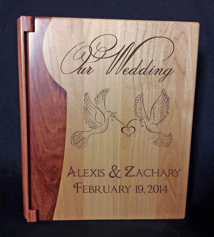 Personalised Wedding Photo Albums: Personalized Photo Album Custom Engraved Wedding Album
