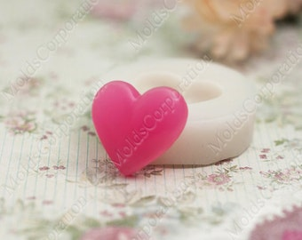 Heart Silicone Moulds Flexible Mold, for polymer clay, МС37/1 (2/0)