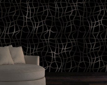 Wall Stencil/ Wall Decor  - Twisted Wave Stencil