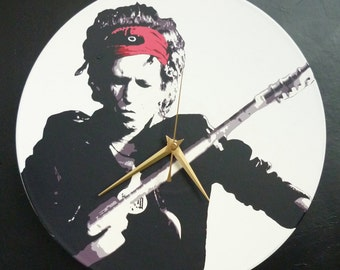 Keith Richards – The Rolling Stones – 12″ Vinyl Record Wall Clock