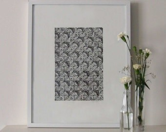 Scaled 2010 - Linoprint, original artwork