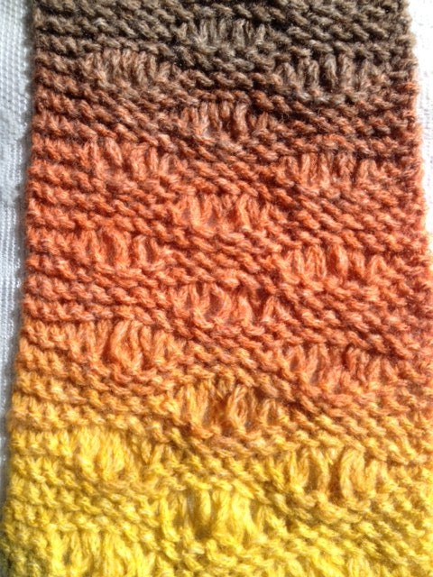 Seafoam Stitch Scarf - a loom knit pattern