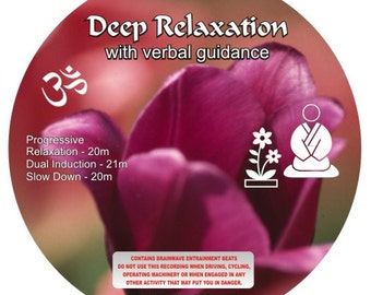 Deep Relaxation with Verbal Guidance De-Stress - Relaxation - Meditation mp3 Instant download