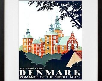 Airline Art Travel Poster Denmark Tourism Print (TR29)