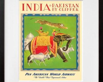 Travel Poster India Vintage Art Print (TR144)