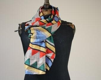 Silk Scarf , Vintage ,
