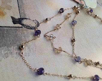Three string necklace