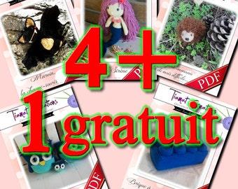 PDF Crochet - PACK 4 + 1 GRATUIT - Tiamat Creations