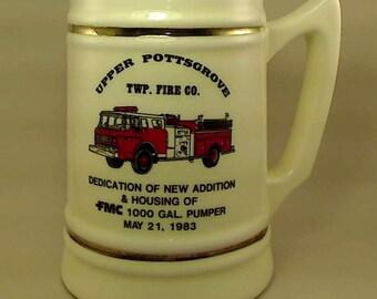 1983 Upper Pottsgrove Twp. Fire Co. Dedication Mug