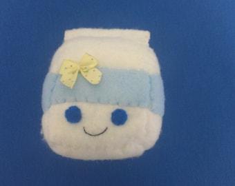 Plush Handsewn Milk Carton