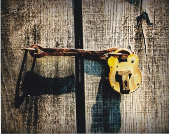 Weathered Lock - Greensboro, NC Limited Edition Signed and Numbered Photograph