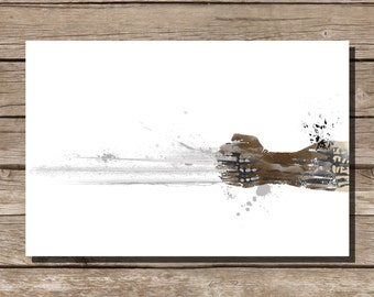movie poster art print Wolverine comic book art fan art home decor wall hanging art