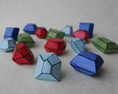 Loose Gems handmade rustic favors gems rubies sapphires emeralds polymer clay jewels