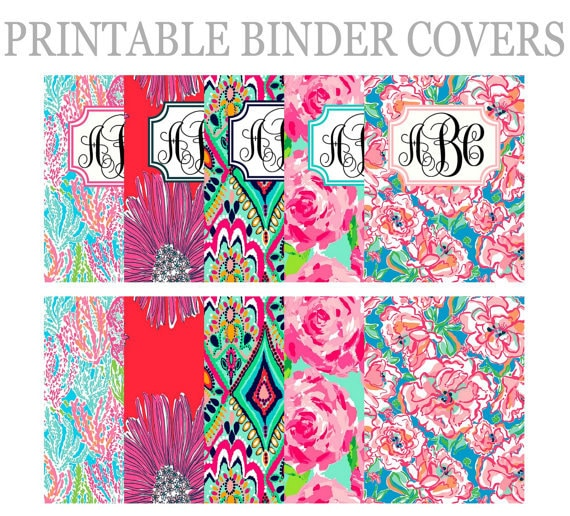 Items Similar To Lilly Pulizter // 5 Printable Binder
