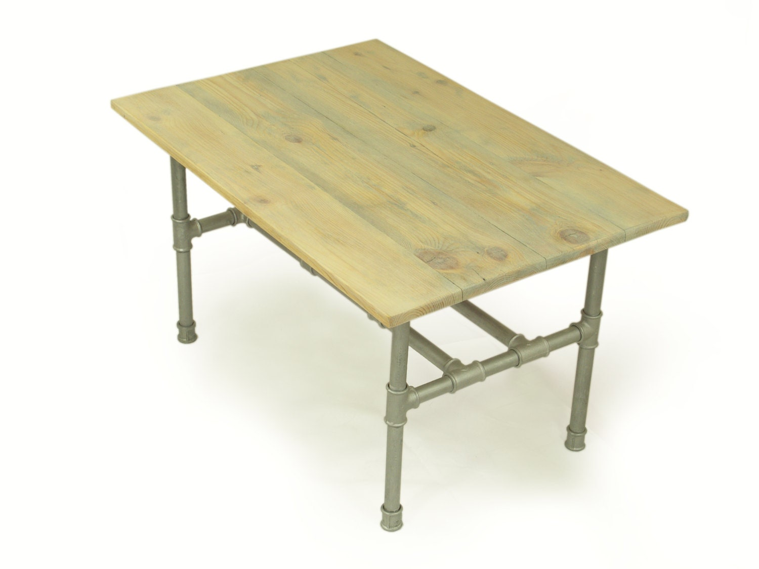 handmade silver coffee table industrial table of reclaimed. Black Bedroom Furniture Sets. Home Design Ideas