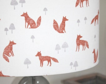 Foxes Lamp Shade 100% organic cotton