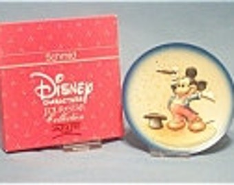 Vintage Anri Toriart Handcrafted Disney MICKEY MOUSE Wooden Limited Edition Collectible Plate in Original Box with Certificate - 1989