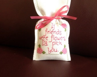 Cross stitch lavender bags