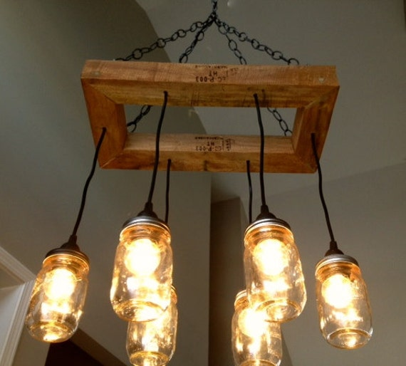 Edison Bulb Chandelier Mason Jar Lighting Mason By