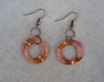 Copper hardware earrings