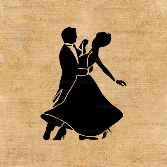 Download tanzen paar Bild hochauflösende Kontur druckbare