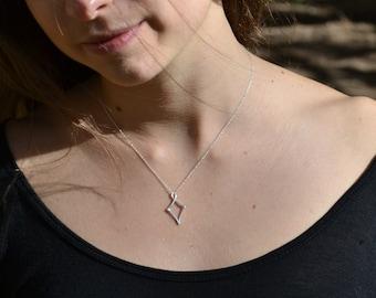 Sterling Silver Mini Kite Necklace