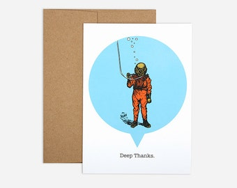 75% OFF SALE - Deep Thanks Greeting Card