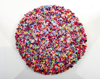 Proggy® Dolly Mixture Small Round Rag Rug Cushion Kit
