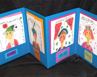 Just Friends 4 Card Folio