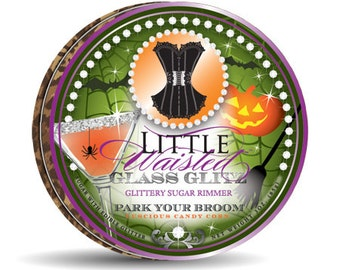 Park Your Broom - Glittery Candy Corn Sugar Rimmer