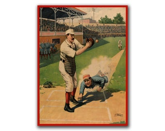 Vintage Baseball Art Wall Poster Print Sports Art Decor (H71)