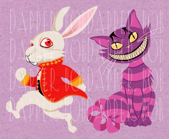 Printable Herald White Rabbit Clipart Graphic Download Alice in ...