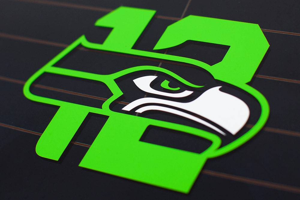 Seahawks 12th Man Vinyl Die-Cut Decal Sticker 2 by ...