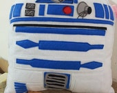 Handmade R2-D2 R2D2 Star Wars Pillow, Cushion, Throw Pillow, Plush, Decorative R2-D2 Star Wars Pillow