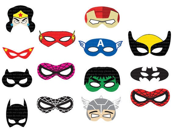 Declarative image in printable superhero masks