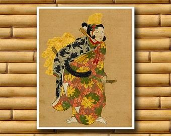 Japanese Art Decor Asian Print Japan Retro Poster (J112)