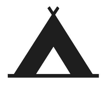 Camping Icon Symbol Logo Vinyl Decal Sticker Camp Tent Hike