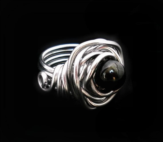 wire ring aluminum jewelry wire wrapped ring wire wrap
