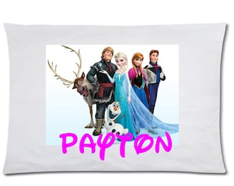 Childrens Personalized Pillowcase Girls Frozen Pillowcase