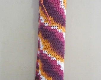 Striped Cotton Crochet Yoga Mat bag