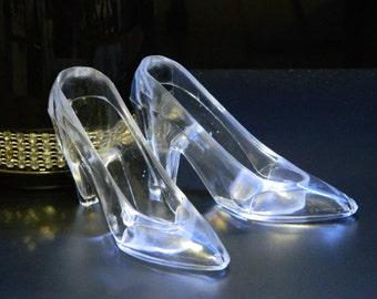 Cinderella's Glass Slipper  PAIR