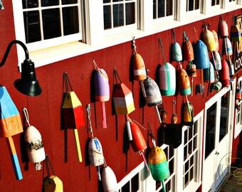 Colorful Buoys!  Bar Harbor Maine. Fine Art Photography