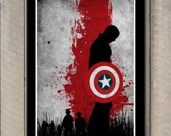 Vintage Avengers Movie Poster Set - Captain America