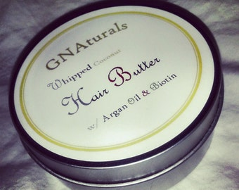 Natural Whipped Coconut Hair Butter with Argan Oil and Biotin