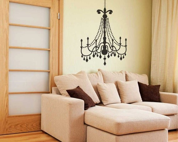 Small glamour chandelier wall decal wall chandelier like this item aloadofball Gallery