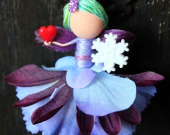 Custom Purple Fairy Ornament Decor
