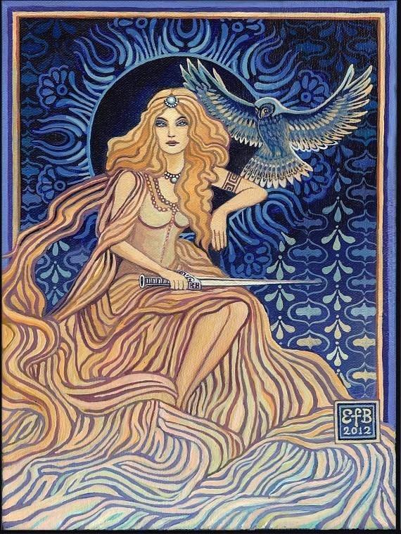 Minerva Roman Goddess of Wisdom 8x10 Print Goddess ArtMinerva Roman Goddess