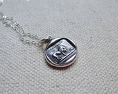 Lion and the Mouse - Aesop's Fable Antique Wax Seal Necklace - 286