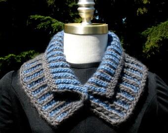 PDF Digital Download Pattern  Reversible Brioche Rib Neckwarmer  Patons Classic Wool Roving